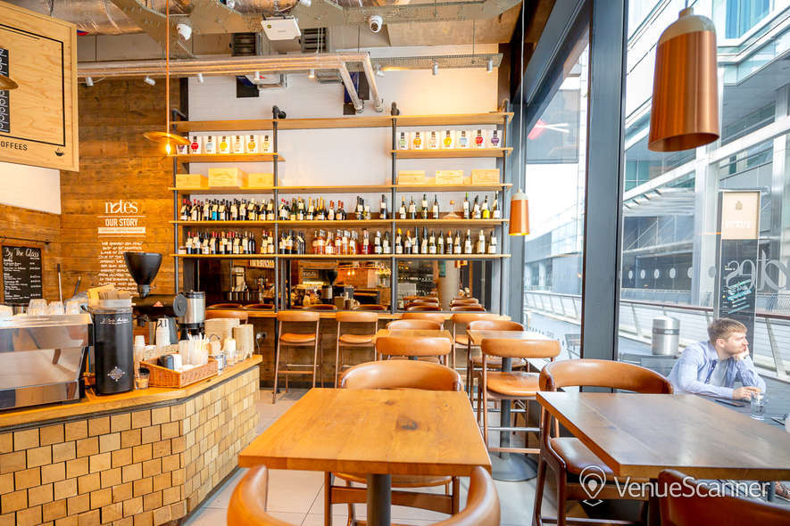 Hire Notes Coffee Roasters & Bars - Canary Wharf Full Venue W/ Outdoor Space 4