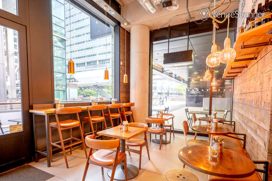Hire Notes Coffee Roasters & Bars - Canary Wharf Full Venue W/ Outdoor Space
