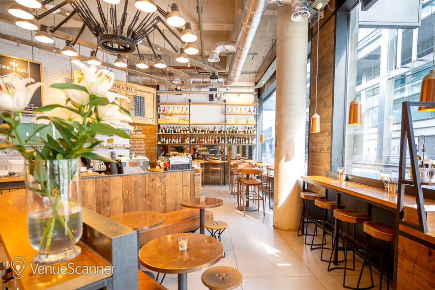 Hire Notes Coffee Roasters & Bars - Canary Wharf Full Venue W/ Outdoor Space 5