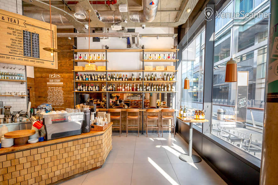 Hire Notes Coffee Roasters & Bars - Canary Wharf Full Venue W/ Outdoor Space 7